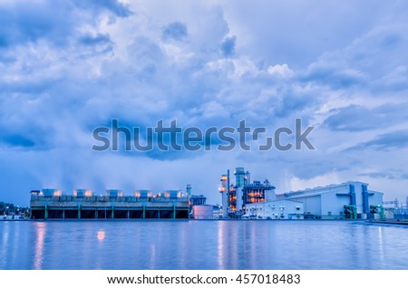 Power plant in cloudy before rainy