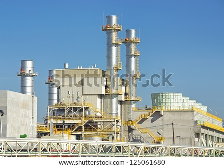 Power plant located in Majorca (Spain) - stock photo