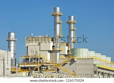 Power plant located in Majorca (Spain) to produce electricity - stock photo