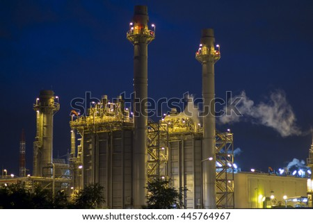 power plant night soft focus for background