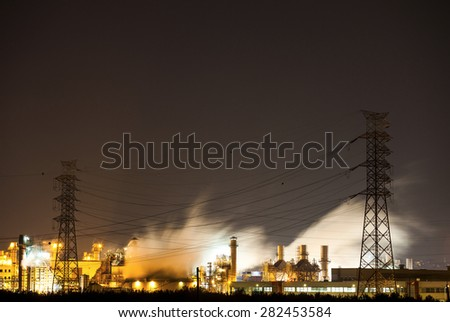 Power Plant of Night View