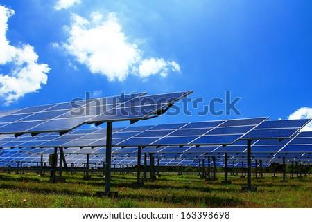 Power plant  solar energy - stock photo