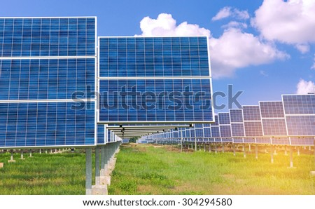 Power plant using renewable solar energy