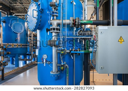 Power plant water filters
