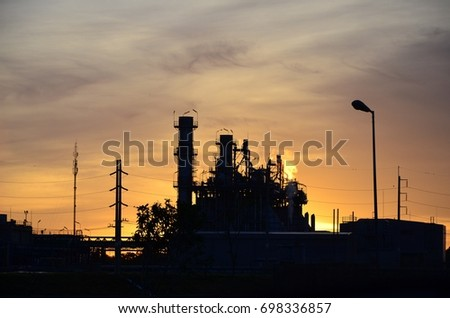 Power Plant with Morning Light