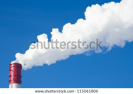 Power plants. Global warming concept