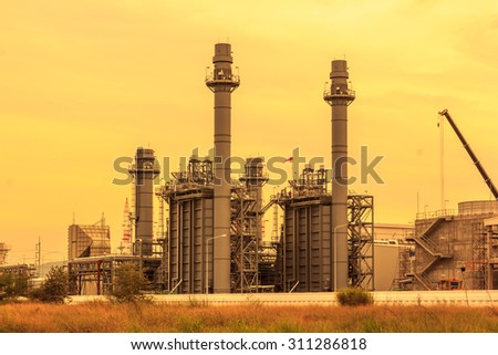 Power plants in the daytime - stock photo