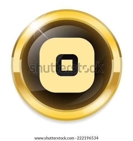 Power plug button - stock photo