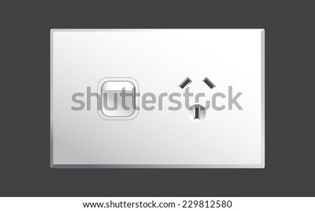 Power point or power outlet for Australia - stock photo