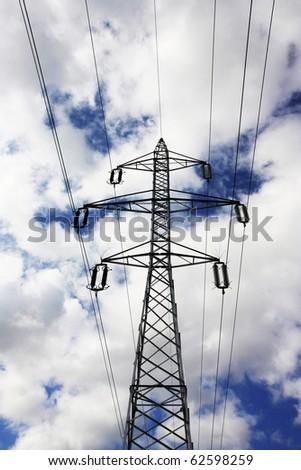 Power pole. - stock photo