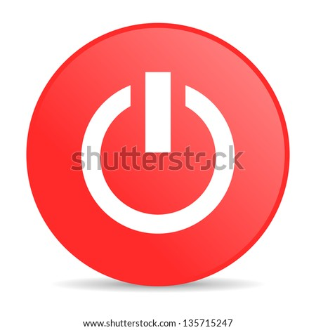 power red circle web glossy icon