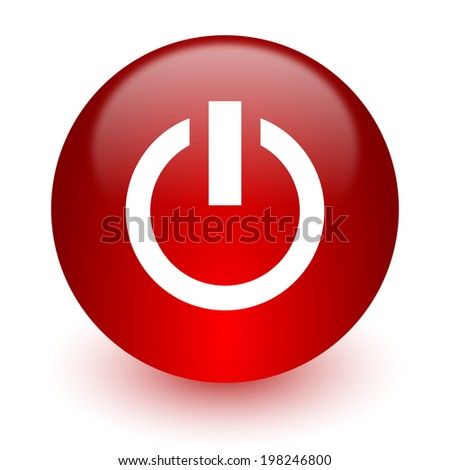 power red computer icon on white background