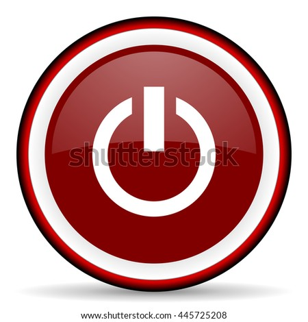power round glossy icon, modern design web element