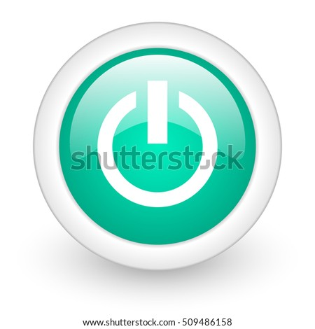 power round glossy web icon on white background