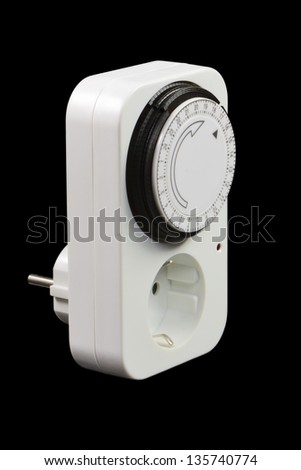 Power socket with timer switch - stock photo