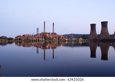 Power Station. - stock photo
