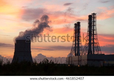Power station and tube 