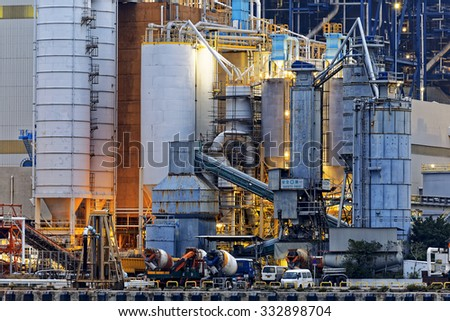 Power station building close up - stock photo