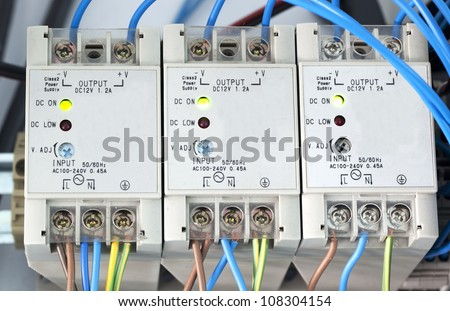 Power supply of electric current - stock photo