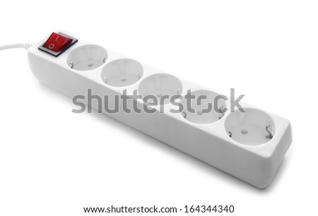 Power surge, isolated on white - stock photo