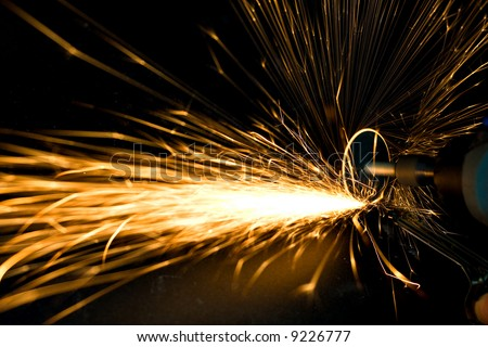 Power tool creating huge sparks