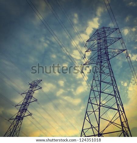 Power towers - stock photo