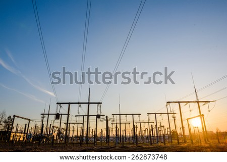 Power towers  - stock photo