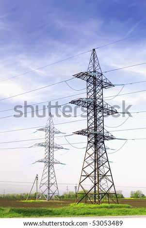 Power Transmission Line. - stock photo