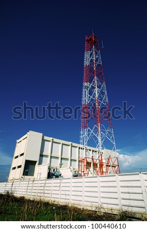 Power Transmission Station - stock photo