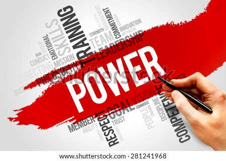 POWER word cloud, business concept - stock photo