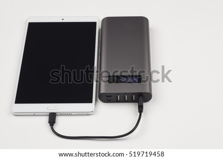 Powerbank charging tablet.external battery charging.