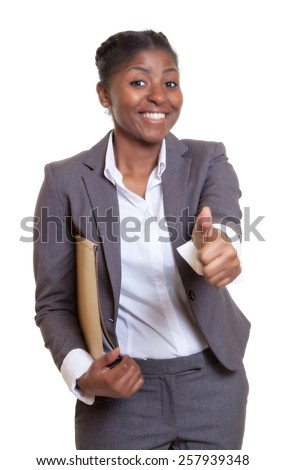 Powerful african businesswoman - stock photo