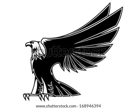 Powerful and majestic eagle for mascot, tattoo or heraldry design, or logo idea. Vector version also available in gallery - stock photo