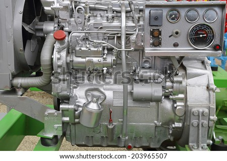 Powerful diesel engine for agricultural works