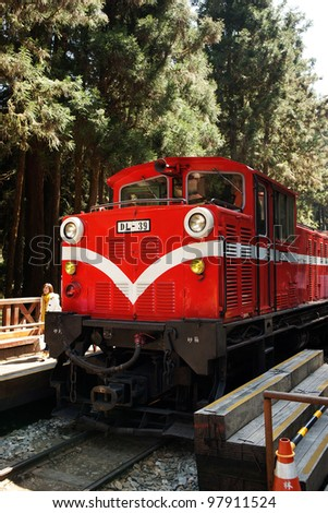 Powerful diesel locomotives - stock photo