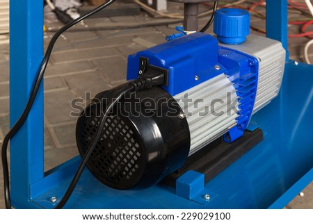 powerful electric motor for modern industrial equipment - stock photo