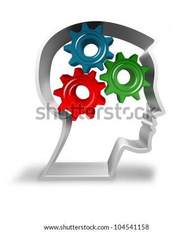 Powerful mind - thinking man - stock photo