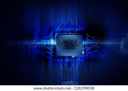 Powerful Processor - Nano Technology - Computers Background. Electronics Illustrations Collection. - stock photo