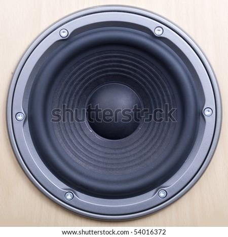 powerful speaker - stock photo