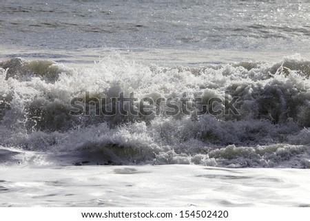 Powerful Waves - stock photo
