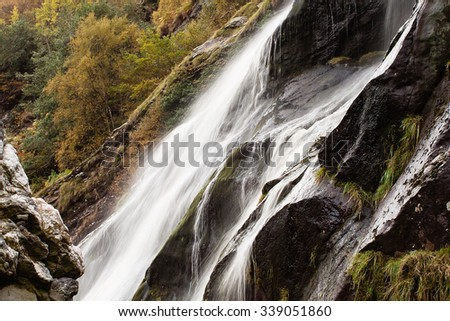 Powerscourt Waterfall, Wicklow, Ireland - stock photo
