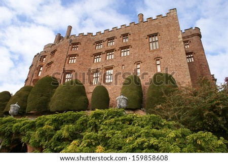 powis castle, Welshpool, wales, England - stock photo
