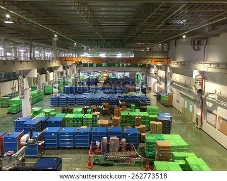 PRACHINBURI THAILAND 20 MAR 2015 : Interior of Industry factory in Industrial Estate Authority of Thailand in Prachinburi Thailand on 20 March 2015 - stock photo