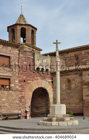 "Prades is the ""red town"" with ancient history and a lot of interesting monuments. - stock photo"