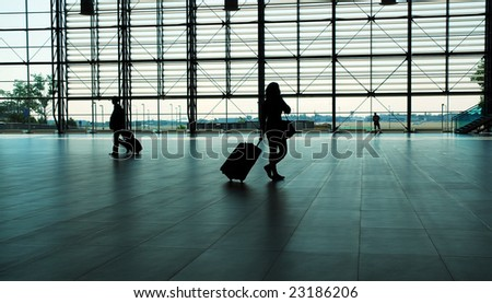 Prague airport - stock photo