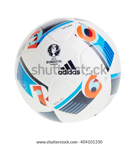 PRAGUE April 10,  2016: Adidas BEAU JEU official Ball for the UEFA EURO 2016 football tournament in France Europe - stock photo