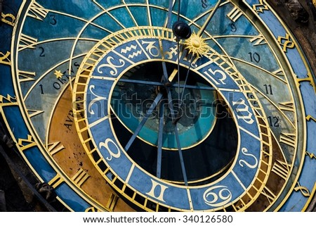 Prague Astronomical Clock (Orloj) in the Old Town of Prague
