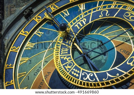 Prague Astronomical Clock: The Clock continually provides the full range of astronomical data.