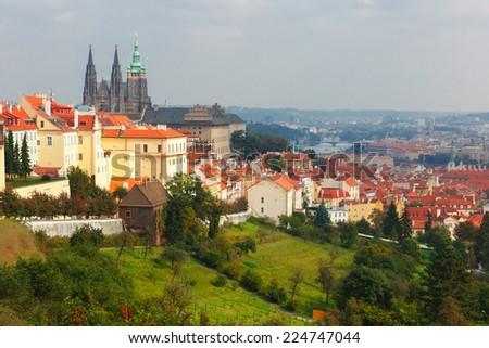 Prague Castle and Little Quarter in old town of Prague, Czech Republic  - stock photo