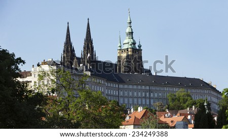 Prague Castle in spring. Czech republic - stock photo